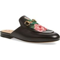 Gucci 'Princetown' Embroidered Mule Loafer (Women) | Nordstrom