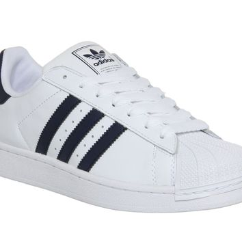 Adidas superstar II 2 white/navy Mens Trainers
