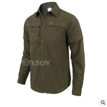 Hiking Shirt camping outdoor sports TAD quick-duty detachable long-sleeved shirt breathable fast quick-drying clothes leisure Uv protection shirts KO_17_1