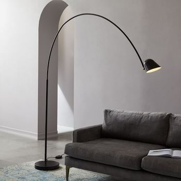 LED Overarching Boom Arm Floor Lamp