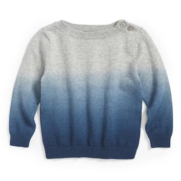Infant Boy's Vince 'Stargazer' Dip Dye Crewneck Sweater,
