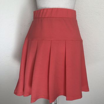 TORRID Women's Plus Size 18 Coral Pleated Midi Skirt