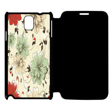 Vintage Flower Samsung Galaxy Note 4 Flip Case Cover