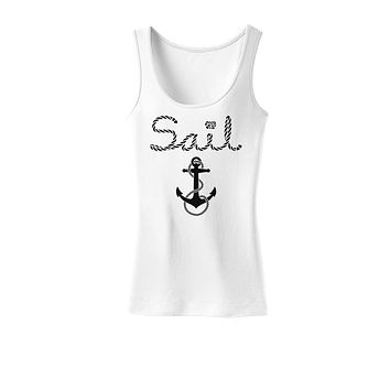 Sail Nautical Sailor Boating Womens Tank Top