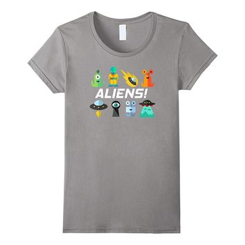 Aliens Made Me Do It Alien Abduction T-Shirt Nerd UFO Space