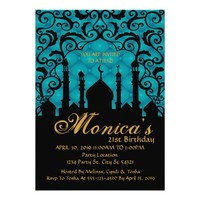 Arabian Nights, 21st Birthday Invitations