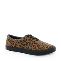 ASOS Plimsolls With Leopard Print at asos.com