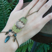 mixed metals slave bracelet in Steampunk style