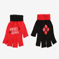 DC Comics Harley Quinn Fingerless Gloves