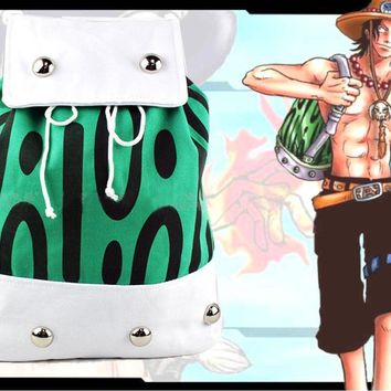 Anime ONE PIECE Portgas D Ace Backpack Shoulder Bag Canvas School Bags Gift 42 x 31cm