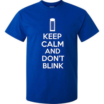 Keep Calm And Don't Blink Doctor Who Inspired Keep Calm Shirt Mens Womans And Youth Don't Blink