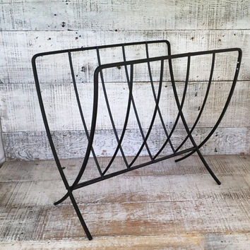 Magazine Rack Mid Century Magazine Holder Danish Modern Magazine Rack Vintage Record Holder Folding Magazine Holder Magazine File
