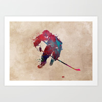 Hockey player 1 #hockey #sport Art Print by jbjart