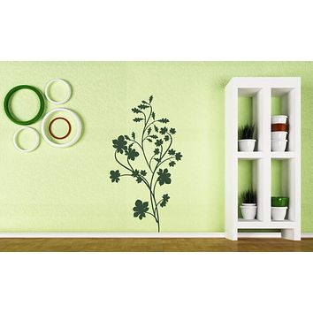 Large Vinyl Decal Floral Pattern Ornament Indoor Decoration Wall Sticker (n598)