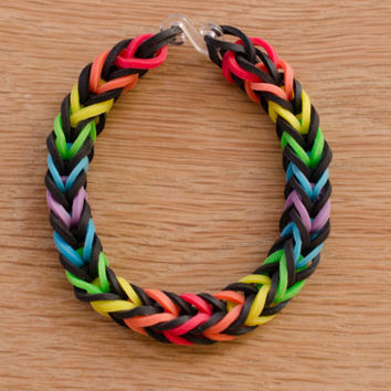 Rainbow Wreath Rainbow Loom Fishtail Bracelet