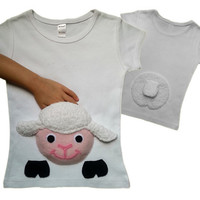 kids  clothes  lamb  shirt  lamb  tshirt  easter  lamb  shirt  lamb applique  farm  tshirt  infant  lamb  shirt  girl  lamb  shirt  girls
