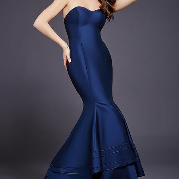 7df11cbd84e7 Navy Sweetheart Neck Mermaid Dress 37897 from Jovani | Prom