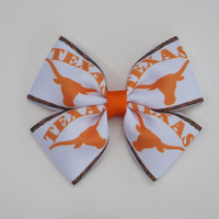 University of Texas Longhorn Hair bow for Baby and Toddler girls/Texas longhorn baby hair bows/UT longhorn baby hair bows