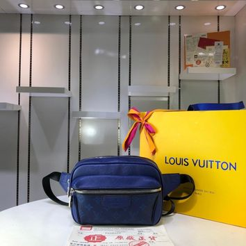 Kuyou Lv Louis Vuitton Gb29714 M30245 K45 Bags All Collections Blue Outdoor Bumbag 21x17x5cm