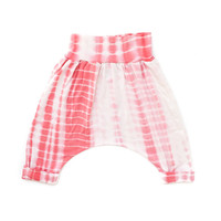 Strawberry & Cream Tie Dye Cropped Infant Harem Pants