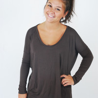 Piko Long Sleeve Scoop Neck