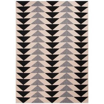 Jaipur Patio Indoor/Outdoor Rug in Black/Grey