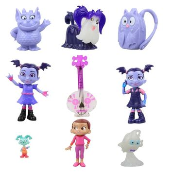 Moive Junior Vampirina The Vamp Batwoman Girl Action Toy Figure 9pcs/lot