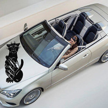 Car Hood Vinyl Decal Graphics Stickers Art Mural Animals Big Cat Panther KJ1439