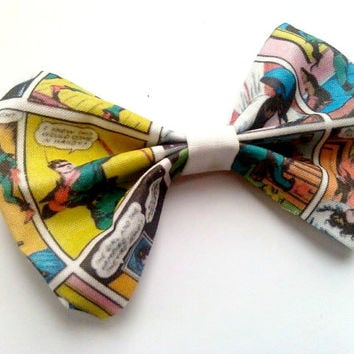 Green Arrow Small Hair Bow- Superhero Comic Geekery