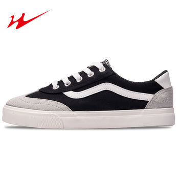 Men Skateboarding Shoes Lace Up Sneakers Outdoor Shoes Canvas Shoes Skateboarding White Black Shoes