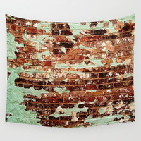 Half Naked Bricks Wall Tapestry by RichCaspian