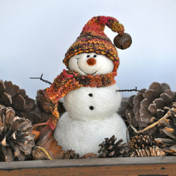 Snowman Needle Felted Christmas Snowmen 58 by BearCreekDesign