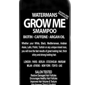 Watermans Grow Me Shampoo - Biotin, Caffeine, Argon Oil