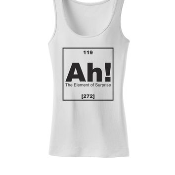 Ah the Element of Surprise Funny Science Womens Petite Tank Top by TooLoud