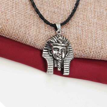 Leather Rope Egyptian Pharaoh Necklace