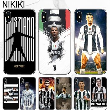 ciciber Cristiano Ronaldo Juventus Jersey Phone Case For iPhone 7 7plus 6 6s plus 8 8plus X 5s Soft Football Cover For iPhone X