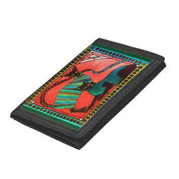 Legend of the Siamese - Whimsical Cat Art Tri-fold Wallets