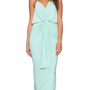 T-Bags LosAngeles Tie Front Maxi Dress in Mint