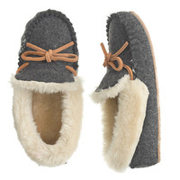 crewcuts Girls Shearling Lodge Moccasins