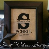 Personalized burlap sign/wall decor for 8x10 frame