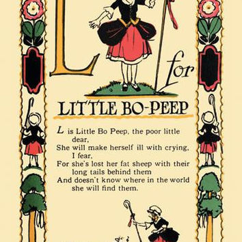 L for Little Bo-Peep 20x30 poster