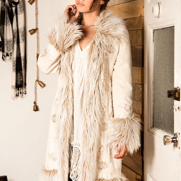 Afghan Coat White