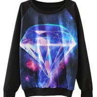 Black Diamond Cosmos Print Sweatshirt