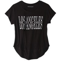 Junior's Los Angeles Graphic Tee - Black