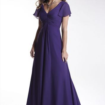 Pretty Maids 22442 Long Chiffon Bridesmaids Dress