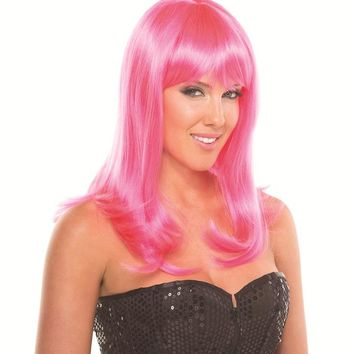 Bewicked Female Solid Color Hollywood Wig BW094HP