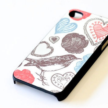 Bird iPhone Case - Flower & Heart