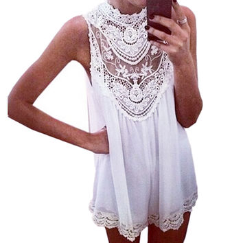 Boho Lace Patchwork Top