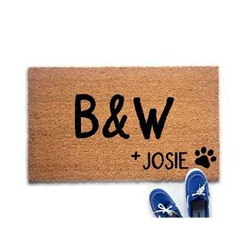 Personalized Couple's Initials and Pet Doormat