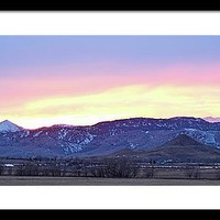 Boulder County Haystack Mountain Panorama View Framed Print